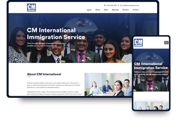 CM Internation Website Development