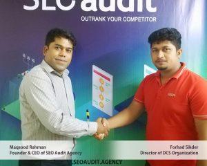 Maqsood Rahman, SEO Expert in Bangladesh & Mr Forhad Sikder, Director of DCS Organization