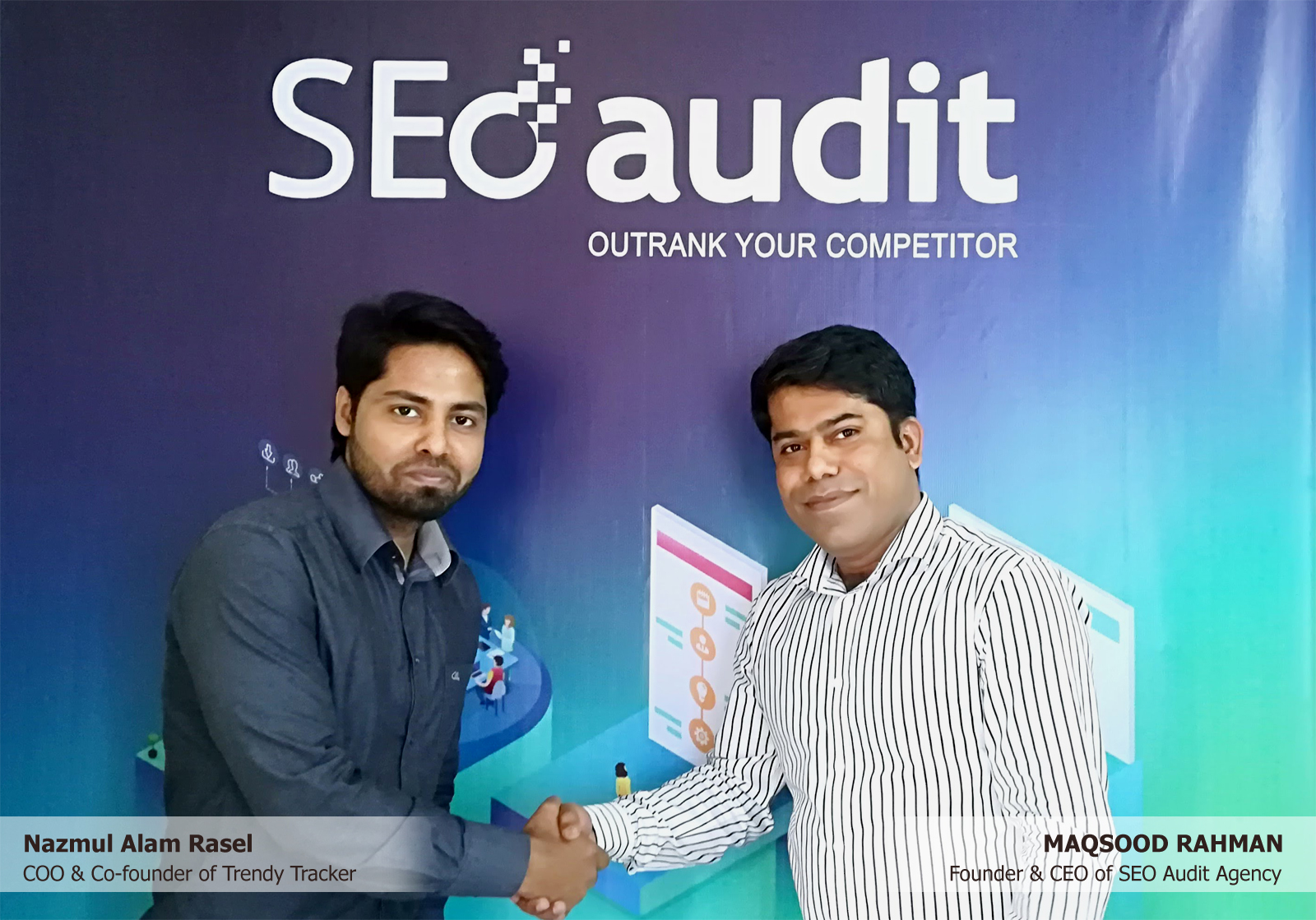 Maqsood Rahman & Nazmul Alam Rasel at SEO Audit Agency