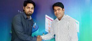 Nazmul Alam Rasel with Maqsood Rahman at SEO Audit Agency
