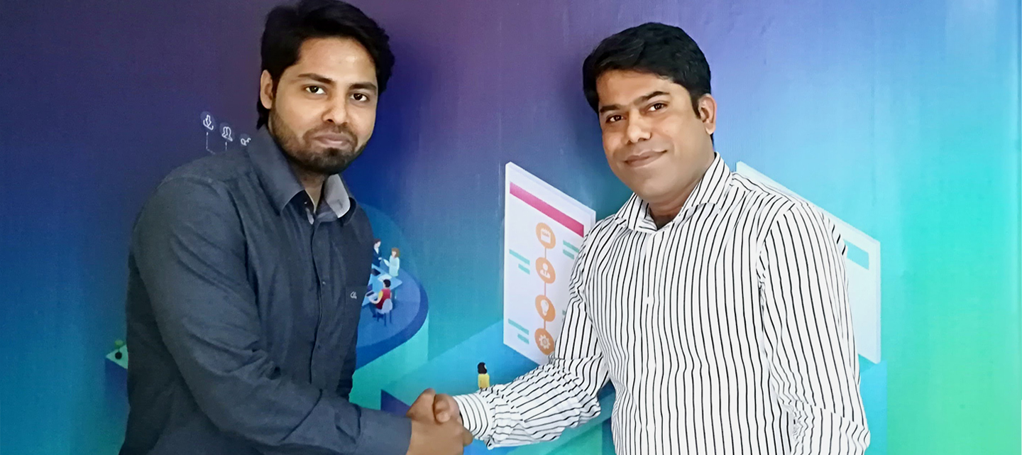 Nazmul Alam Rasel with Maqsood Rahman at SEO Audit Agency