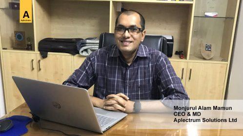 Monjurul Alam Mamun, CEO & MD of the Aplectrum Solutions Ltd