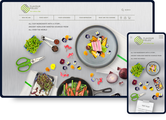 Flavour Fields ecommerce website design work