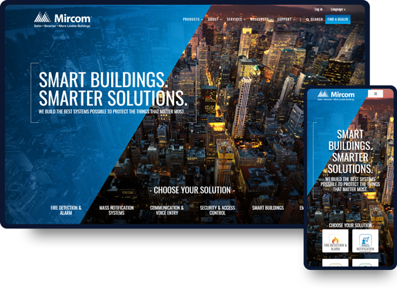 Mircom Group Website Design Work.