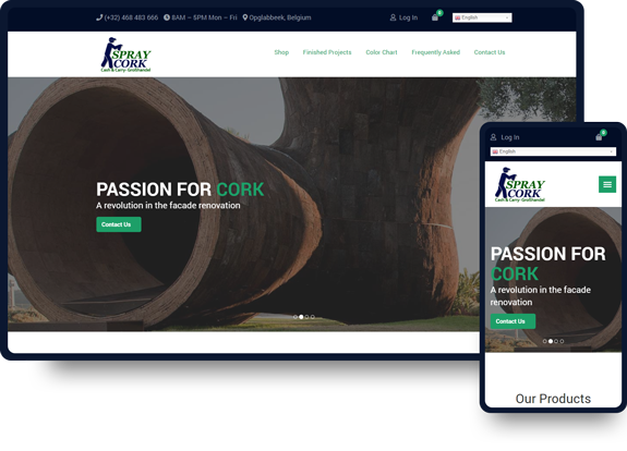 Spray cork ecommerce web design work