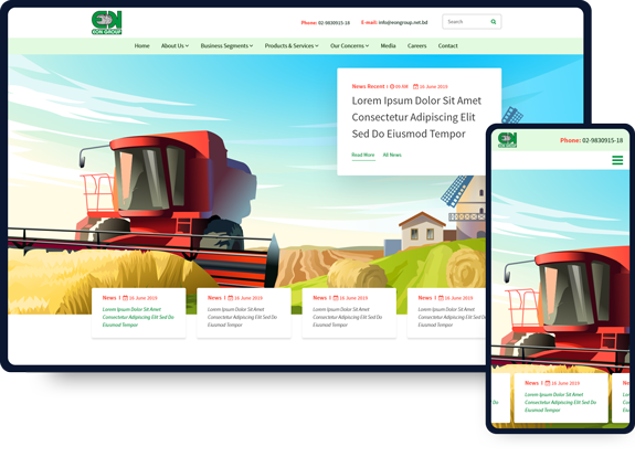 Eon Group Dhaka, Bangladesh Web Design Guideline and Mockup