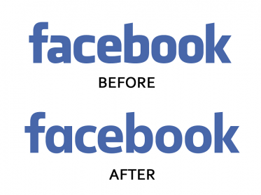 Check how facebook change its logo over the time