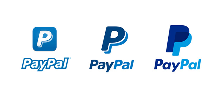 Check how paypal change its logo over the time