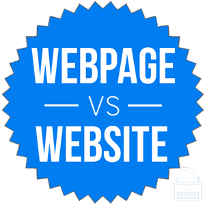 Web Page VS Webstie Comparisons